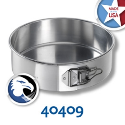 Chicago Metallic 40409 Spring Form Cake Pan, 9 x 3-in, Aluminum