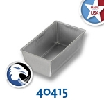 Chicago Metallic 40415 Glazed Bread Pan, 5-5/8 x 3-1/8-in, Aluminized Steel, Seamless