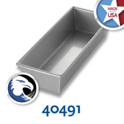 Chicago Metallic 40491 Individual Bread Pan, 12.25 x 4.5-in, Aluminized Steel