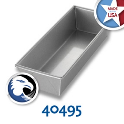 Chicago Metallic 40495 Individual Glazed Bread Pan, 12.25 x 4.5-in, Aluminized Steel