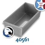 Chicago Metallic 40561 Individual Bread Pan, 9 x 4.5-in, Wire In Rim, Aluminized Steel