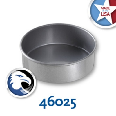 Chicago Metallic 46025 Glazed Round Cake Pan, 6 x 2-in, Aluminized Steel