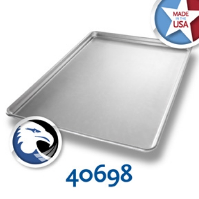 Chicago Metallic 40698 Full-Size Glazed Stay Flat Sheet Pan, Aluminum