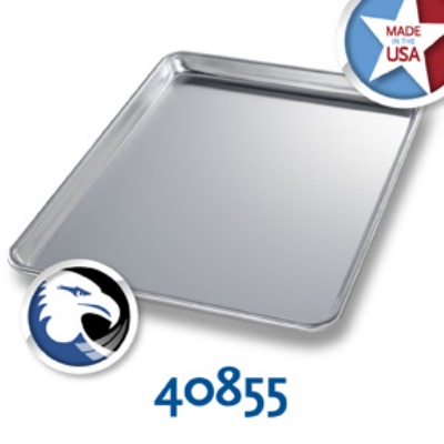 Chicago Metallic 40855 1/2-Size Glazed Sheet Pan, Aluminum