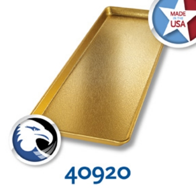 Chicago Metallic 40920 Display Pan, 9 x 26-in, Anodized Aluminum, Gold Finish