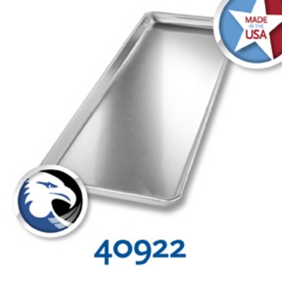 Chicago Metallic 40922 Display Pan, 9 x 26-in, Anodized Aluminum, Semi-Closed Rim