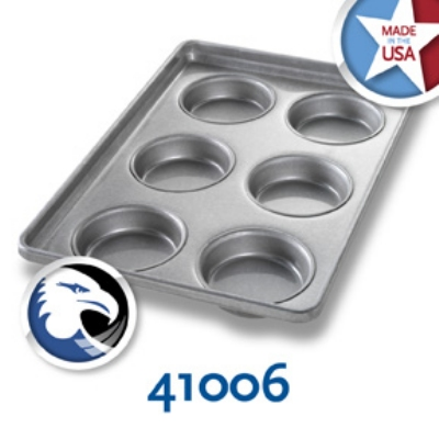 Chicago Metallic 41006 Glazed Bun & Roll Pan, Holds 2-Rows of 3, Aluminized Steel