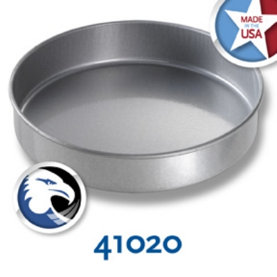 Chicago Metallic 41020 Round Cake Pan, 10 x 2-in,  Aluminized Steel