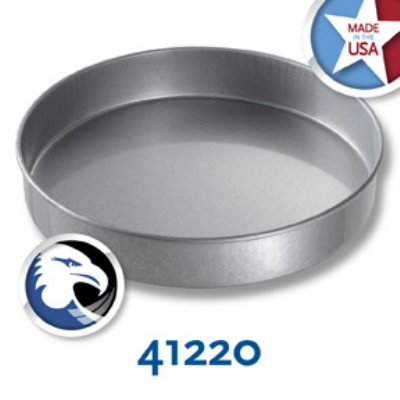Chicago Metallic 41220 Round Cake Pan, 12 x 2-in, Aluminized Steel