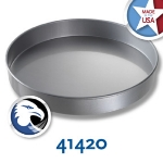 Chicago Metallic 41420 Glazed Cake Pan, 14 x 2-in, Round, Aluminized Steel