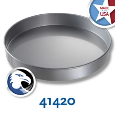 Chicago Metallic 41420 Glazed Cake Pan, 14 x 2-in, Round, Aluminized Steel