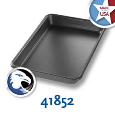 Chicago Metallic 41852 1/8-Sheet Pan, Aluminum, Hard Coat Anodized Bakalon