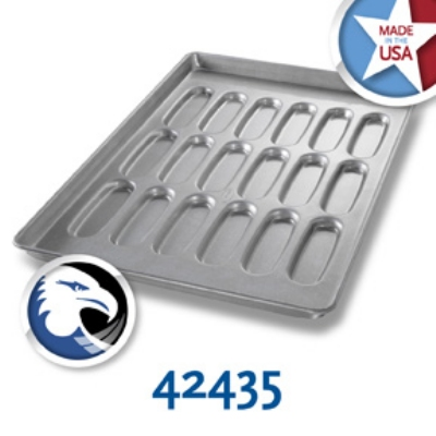 Chicago Metallic 42435 Hot Dog Bun Pan, 3-Rows of 6, Aluminized Steel
