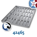 Chicago Metallic 42465 Cluster Hot Dog Bun Pan, 8-Clusters of 4