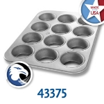Chicago Metallic 43375 Jumbo Muffin Pan, Holds (12) 7-oz, Aluminized Steel