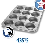 Chicago Metallic 43515 Jumbo Muffin Pan, Holds (12) 6.2-oz, Aluminized Steel