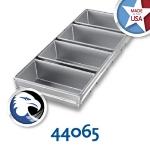 Chicago Metallic 44065 Glazed Bread Pan Set, Holds (4) 18-11/16 x 19.75-in, Aluminized Steel