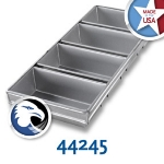 Chicago Metallic 44245 Glazed Bread Pan Set, (4) 9-7/32 x 21-7/8-in, Aluminized Steel