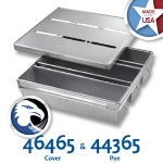 Chicago Metallic 44365 Pullman Pan Set, Holds (3) 16-23/32 x 15.75-in, Aluminized Steel