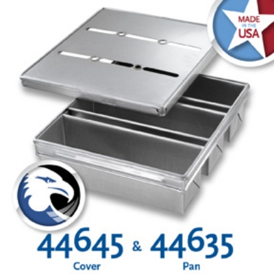 Chicago Metallic 44635 Pullman Pan Set, 13-23/32 x 15-5/8-in, Aluminized Steel