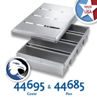Chicago Metallic 44685 Pullman Pan Set, Holds (4), Glazed Aluminized Steel