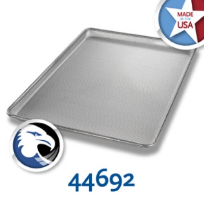 Chicago Metallic 44692 Full-Size Glazed Sheet Pan, Perforated All Over, Aluminum