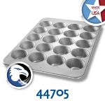 Chicago Metallic 44705 Oversized Muffin Pecan Roll Pan, (20) 8.2-oz, Aluminized Steel