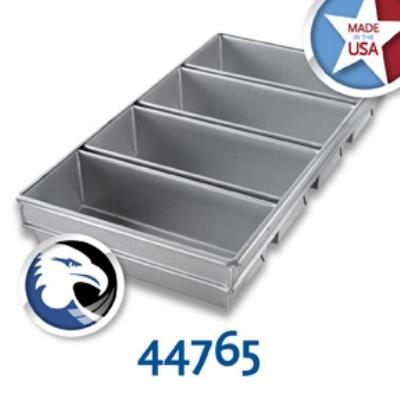 Chicago Metallic 44765 Bread Pan Set, 4-Loaves, Aluminized Steel