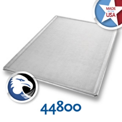 Chicago Metallic 44800 Full Size Baking Sheet, Embossed Rib Inside Edge, Glazed Aluminum