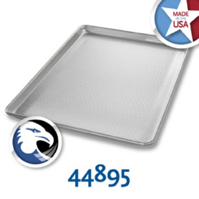 Chicago Metallic 44895 Full-Size Sheet Pan, Aluminum, Glazed, Wire In Rim