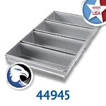 Chicago Metallic 44945 Bread Pan Set, Holds (4) 12-31/32 x 21-7/8-in, Aluminized Steel