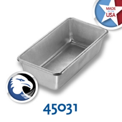 Chicago Metallic 45031 Glazed Individual Seamless Bread Pan, Aluminized Steel