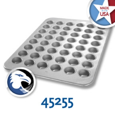 Chicago Metallic 45255 Mini Muffin Pan, Aluminized Steel, Holds (48) 2.1-oz