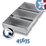 Chicago Metallic 45635 Bread Pan Set, Holds (3) 9-23/32 x 17.75-in, Aluminized Steel
