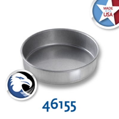Chicago Metallic 46155 Glazed Cake Pan, 6 x 1.5-in,  Round, Aluminized Steel