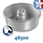 Chicago Metallic 46500 Angel Food Tube Cake Pan, 7.5 x 2.75-in, Seamless, Aluminum