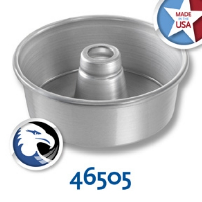 Chicago Metallic 46505 Glazed Angel Food Tube Cake Pan, 7.5 x 2.75-in, Aluminum