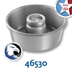 Chicago Metallic 46530 Angel Food Tube Cake Pan, 7.5 x 3-1/16-in, Seamless, Aluminum