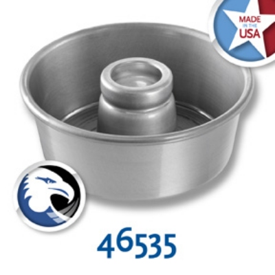 Chicago Metallic 46535 Glazed Angel Food Tube Cake Pan, 7.5 X 3-1/6-in Deep, Aluminum