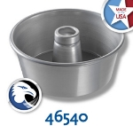 Chicago Metallic 46540 Angel Food Tube Cake Pan, 9.25  x 4-in, Seamless, Aluminum