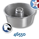 Chicago Metallic 46550 Angel Food Tube Cake Pan, 9.25 x 4-in, Solid Bottom, Aluminum