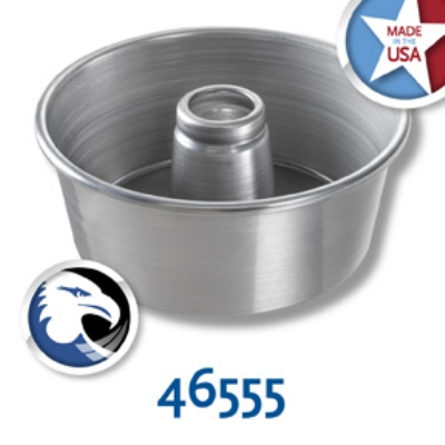 Chicago Metallic 46555 Angel Food Tube Cake Pan, 9.25 x 4-in, Aluminum, Glazed
