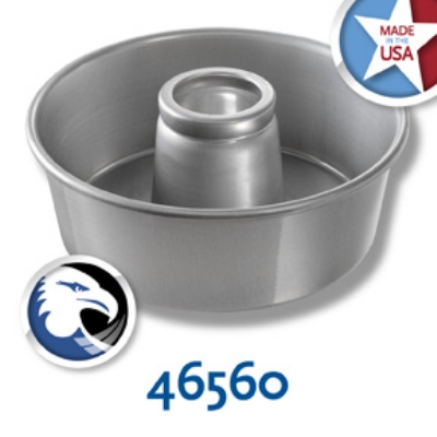 Chicago Metallic 46560 Angel Food Tube Cake Pan, 10 x 3.75-in, Solid Bottom, Aluminum