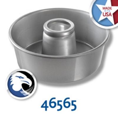 Chicago Metallic 46565 Angel Food Tube Cake Pan, Seamless, 10 x 3.75-in, Aluminum