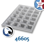 Chicago Metallic 46605 Square Muffin Pan, (24) 4.4-oz, Glazed Aluminized Steel