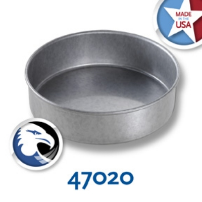 Chicago Metallic 47020 Round Cake Pan, 7 x 2-in, Aluminized Steel