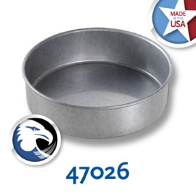 Chicago Metallic 47026 Round Glazed Cake Pan, 7 x 2-in, Aluminized Steel