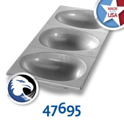 Chicago Metallic 47695 Easter Egg Football Cake Pan, 3-On, Aluminized Steel