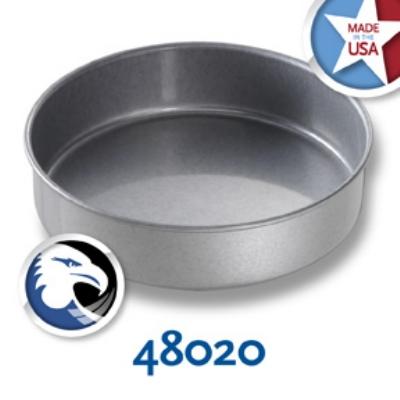 Chicago Metallic 48020 Round Cake Pan, 8 x 2-in, Aluminized Steel