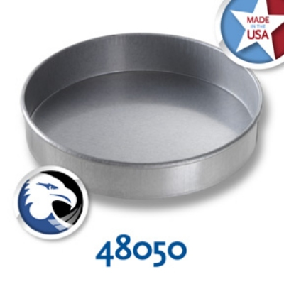 Chicago Metallic 48050 Round Cake Pan, Aluminized Steel, 8 x 1.5-in